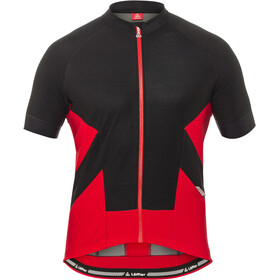 Löffler 1Beats2 Maillot de cyclisme Fermeture éclair complète Homme, black/red
